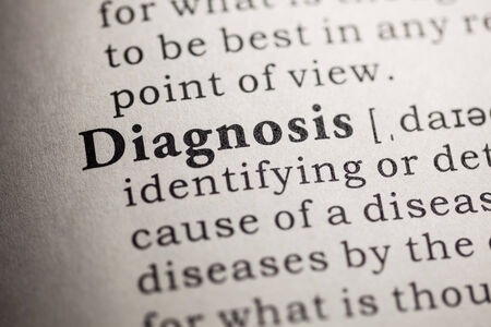 printing out: Fake Dictionary, Dictionary definition of the word diagnosis
