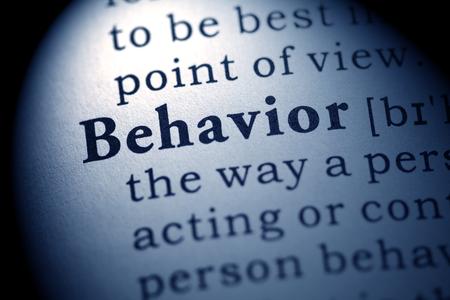 behavior: Fake Dictionary, definition of the word behavior