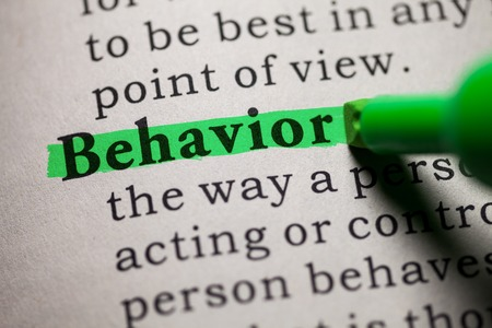 printing out: Fake Dictionary, definition of the word behavior