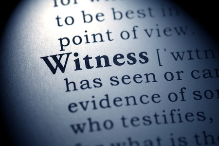 eyewitness: Fake Dictionary, Dictionary definition of the word witness