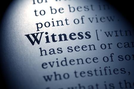 Falso dizionario, la definizione del dizionario della parola testimone Archivio Fotografico - 26401899