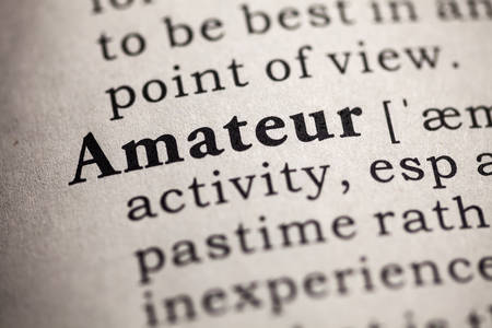Fake Dictionary, definition of the word amateur 版權商用圖片 - 26401913