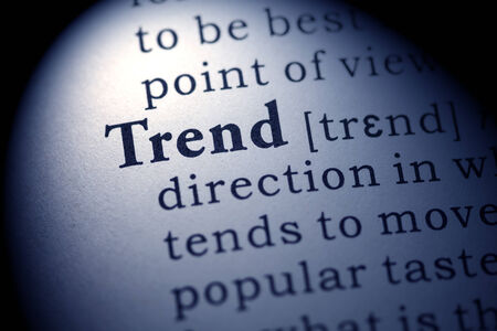 Fake Dictionary, Dictionary definition of the word trend  版權商用圖片