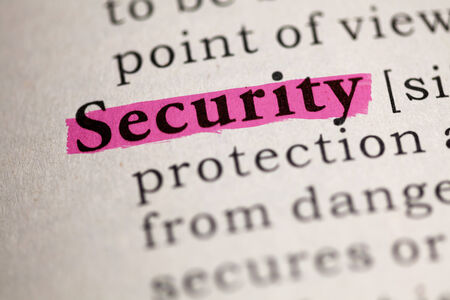 Fake Dictionary, Dictionary definition of the word Security  photo