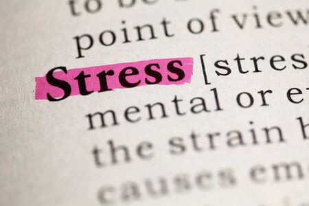Fake Dictionary, Dictionary definition of the word Stress  Banco de Imagens