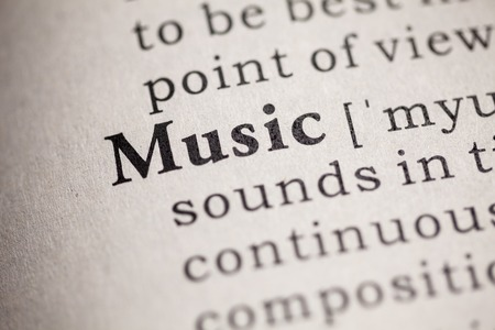 Fake Dictionary, definition of the word music  Stock fotó