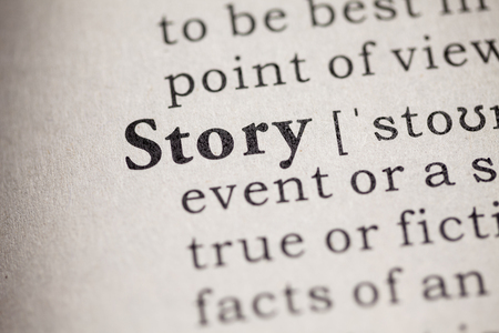 Fake Dictionary, definition of the word story Imagens