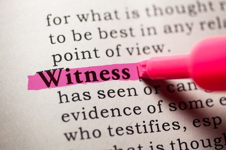 witness: Fake Dictionary, Dictionary definition of the word witness
