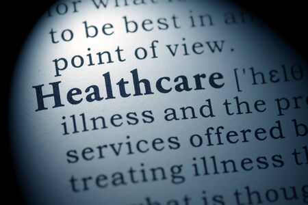 Fake Dictionary, Dictionary definition of the word healthcare  Stock fotó