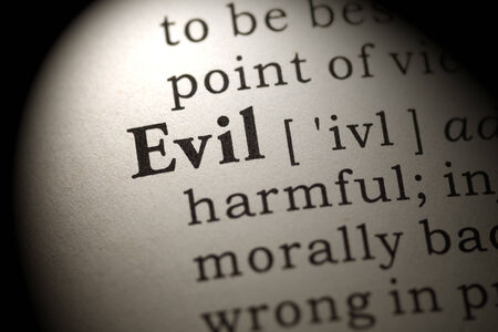 printing out: Fake Dictionary, Dictionary definition of the word Evil