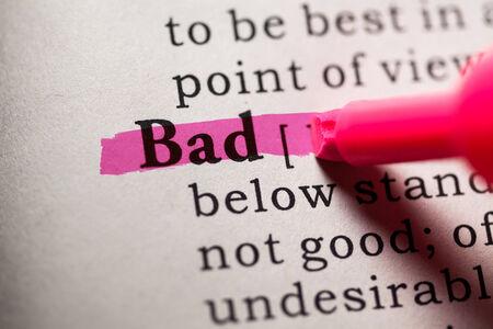 가짜 사전, 나쁜 단어의 사전 정의