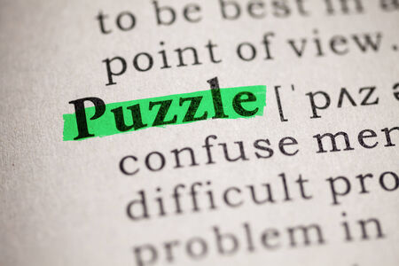 Fake Dictionary, definition of the word puzzle  Reklamní fotografie
