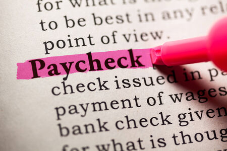 printing out: Fake Dictionary, Dictionary definition of the word paycheck