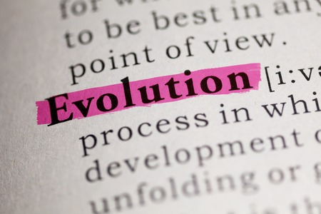 word Evolution highlighted on red