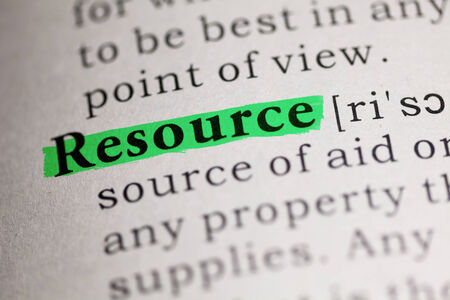 resource: word Resource highlighted on green