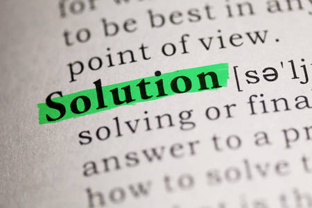 word Solution highlighted on green
