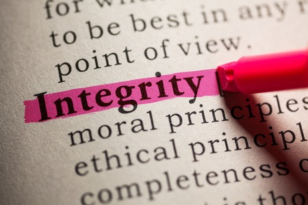 integrity: word integrity highlighted on red
