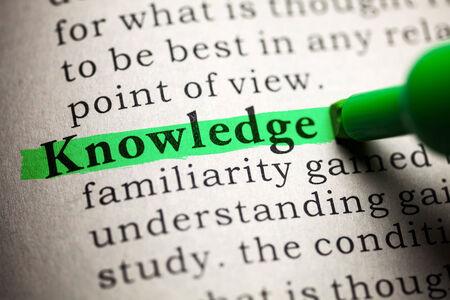 녹색으로 강조된 단어 지식
