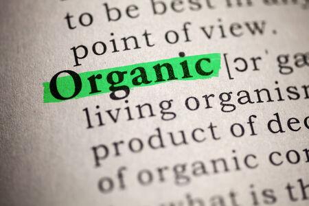 definicion: Diccionario Fake, Definición del diccionario de la palabra orgánico