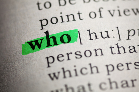 printing out: Fake Dictionary, Dictionary definition of the word who