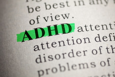 printing out: Fake Dictionary, Dictionary definition of the word ADHD  Attention deficit hyperactivity disorder