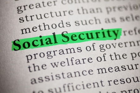 Fake Dictionary, Dictionary definition of social security  photo