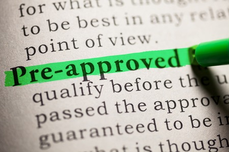 pre approved: Fake Dictionary, definition of the word pre-approved  Stock Photo