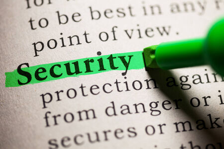 Fake Dictionary, definition of the word security  photo