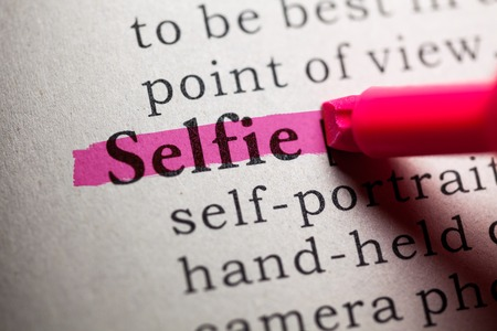 Fake Dictionary, definition of the word selfie  photo