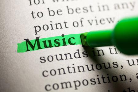 가짜 사전, 단어 음악의 정의
