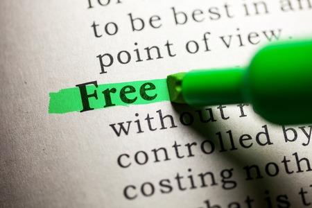 가짜 사전, 무료 단어의 정의 스톡 콘텐츠