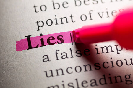 Fake Dictionary, definition of the word lies 版權商用圖片 - 27047513