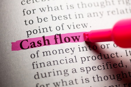 Fake Dictionary, definition of the word cash flow  Фото со стока