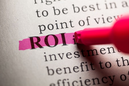 printing out: Fake Dictionary, definition of the word ROI