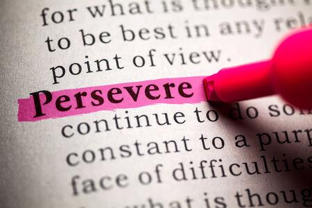 perseverar: Diccionario Fake, la definici�n de la palabra perseverar