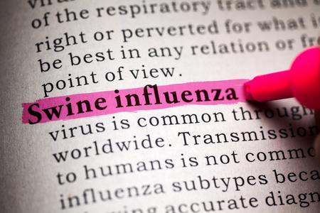 가짜 사전, 돼지 인플루엔자라는 단어의 정의