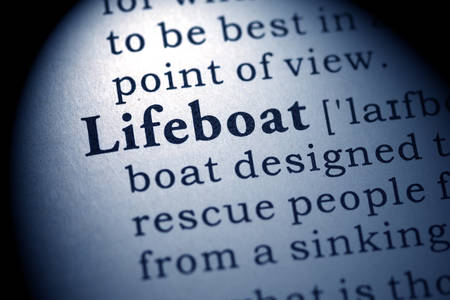 lifeboat: Fake Dictionary, Dictionary definition of the word lifeboat  Stock Photo