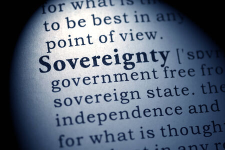 sovereignty: Fake Dictionary, Dictionary definition of the word sovereignty   Stock Photo