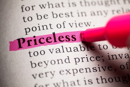 priceless: Fake Dictionary, definition of the word Priceless