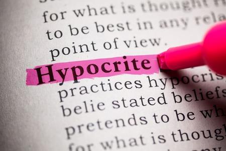 definicion: Diccionario Fake, la definición de la palabra hipócrita Foto de archivo