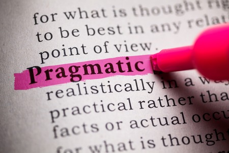 Fake Dictionary, definition of the word Pragmatic