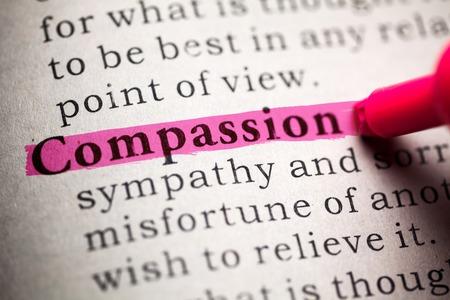 Falso Dictionary, definizione della parola compassione Archivio Fotografico - 27553915