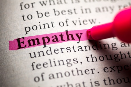 Fake Dictionary, definition of the word empathy  Stock Photo
