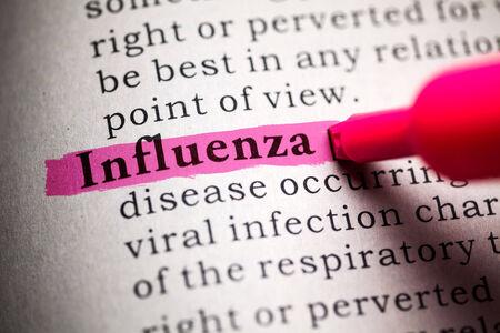 가짜 사전, 인플루엔자에 대한 정의