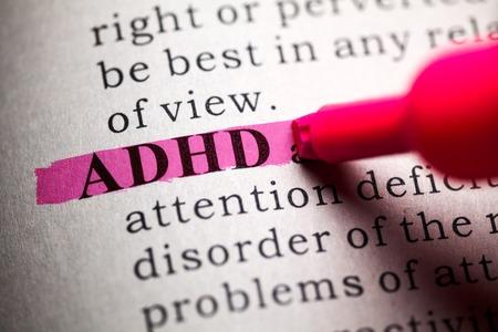 desorden: Diccionario Fake, la definición de la palabra TDAH Foto de archivo