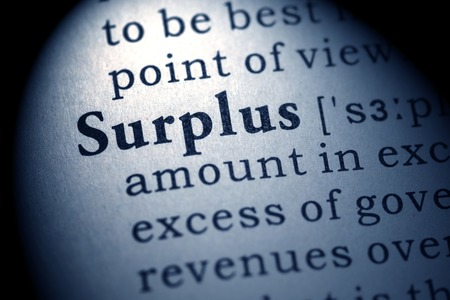 surplus: Fake Dictionary, Dictionary definition of the word surplus