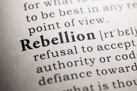 rebellion: Fake Dictionary, Dictionary definition of the word rebellion