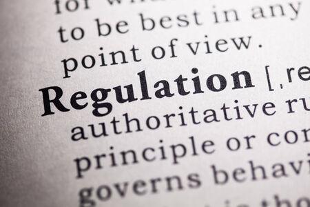 dictionary: Fake Dictionary, Dictionary definition of the word regulation