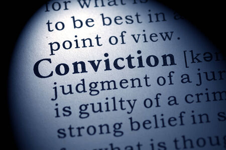 conviction: Fake Dictionary, Dictionary definition of the word conviction