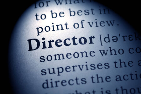 Fake Dictionary, Dictionary definition of the word director  Stock fotó